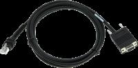 Seriële kabel recht industrieel 2,00m voor Zebra barcode scanners