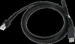 USB kabel recht industrieel 2,00m voor Zebra barcode scanners