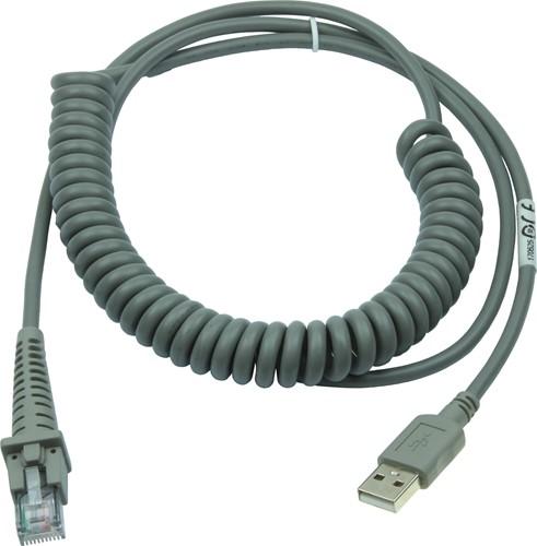 USB kabel gekruld 2,70m voor Datalogic barcode scanners