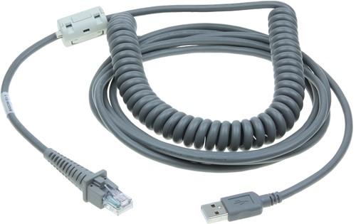 USB kabel gekruld 5,00m voor Datalogic barcode scanners