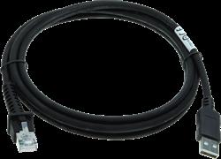 USB kabel recht 2,00m zwart voor Datalogic barcode scanners