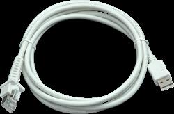 USB kabel recht 2,00m wit voor Datalogic barcode scanners
