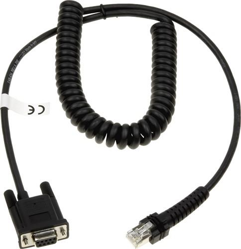 Seriële kabel gekruld 2,40m voor Datalogic Powerscan
