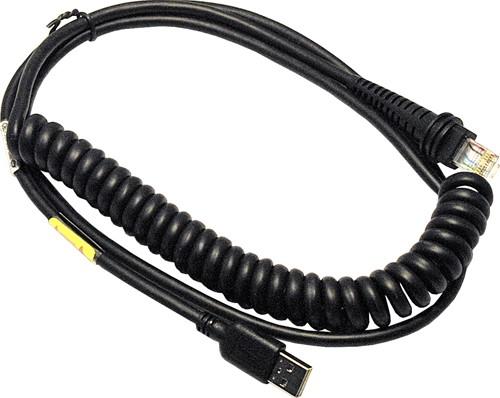 USB kabel gekruld 3,00m voor Honeywell barcodescanners