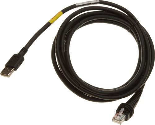 USB kabel recht 3,00m voor Honeywell barcodescanners