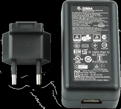 Netvoeding met USB aansluiting voor Zebra EC30-TCxx-MC9300