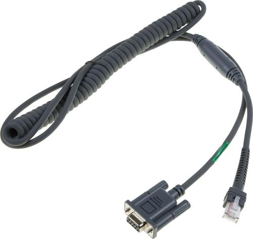 RS232 kabel gekruld 2,80m voor Zebra barcode scanners (Power pin-9)