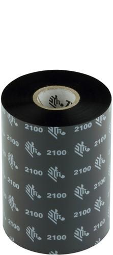 Zebra 2100 Wax lint 102mm x 450m