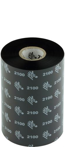 Zebra 2100 Wax lint 106mm x 450m