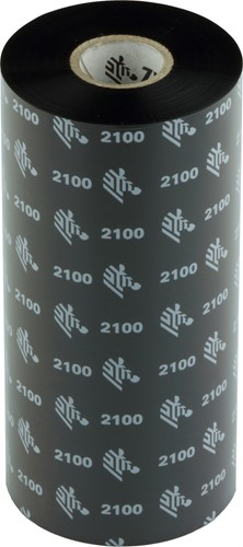 Zebra 2100 Wax lint 156mm x 450m