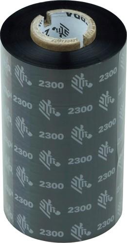 Zebra 2300 Wax lint 110mm x 300m voor GT800 printers