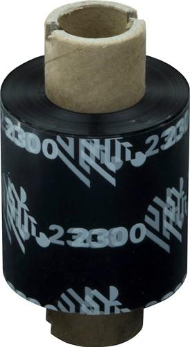 Zebra 2300 Wax lint 33mm x 74m