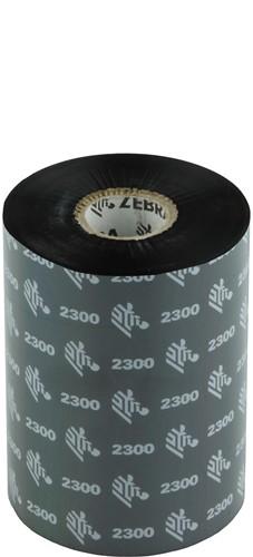 Zebra 2300 Wax lint 102mm x 450m