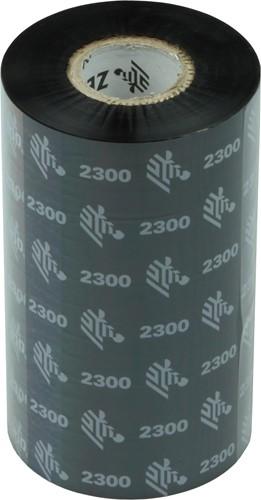 Zebra 2300 Wax lint 110mm x 300m