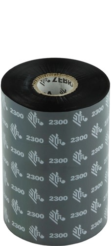 Zebra 2300 Wax lint 110mm x 450m