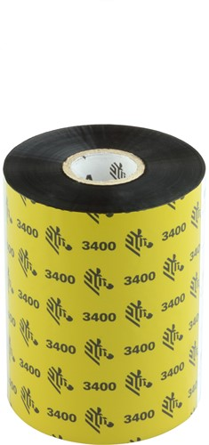 Zebra 3400 Wax/Resin lint 102mm x 450m