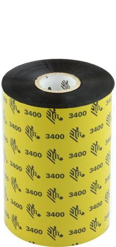 Zebra 3400 Wax/Resin lint 110mm x 450m
