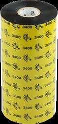 Zebra 3400 Wax/Resin lint 450m voor 220mm industriële printers