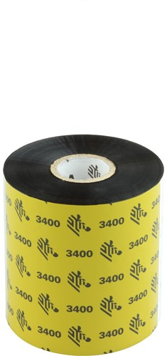 Zebra 3400 Wax/Resin lint 83mm x 450m