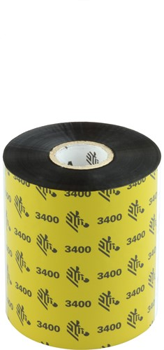 Zebra 3400 Wax/Resin lint 89mm x 450m