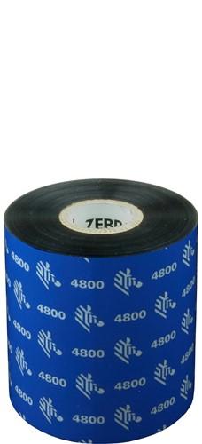 Zebra 4800 Resin lint 80mm x 450m