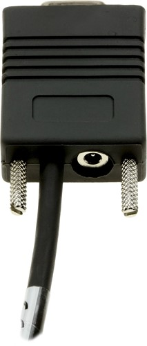 Zebra RS232 cable black power connector