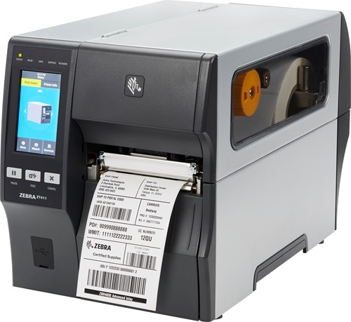 Zebra ZT411 203dpi printer standaard (USB-SER-ETH-BT-WLAN)